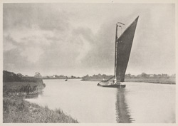 A Norfolk Wherry On The Waveney